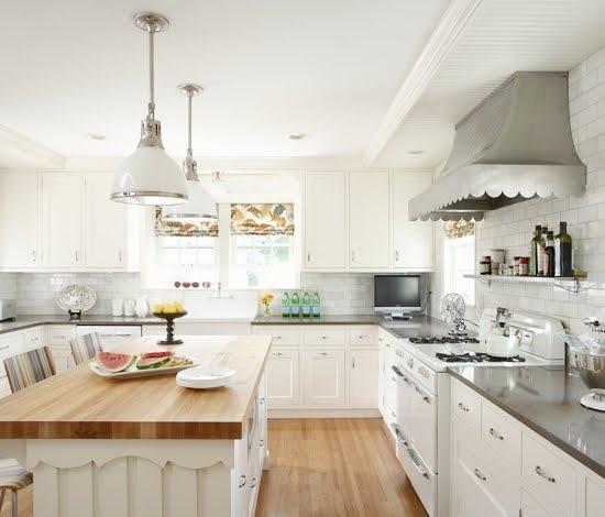 White Modern Kitchen Waplag Appliances Island Big Home: Daily Dream Decor