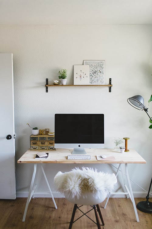 Clean And Simple Home Office Daily Dream Decor