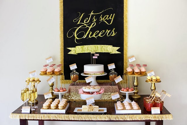 Four New Year's tablescape & buffet ideas - Daily Dream Decor
