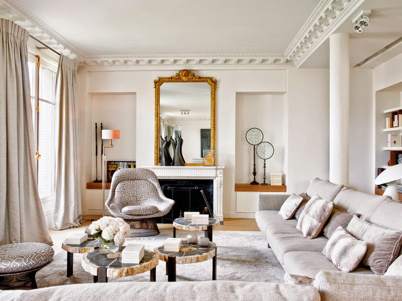 Subtle Black Accents Work To Tie This Stylish Paris Apartment ...