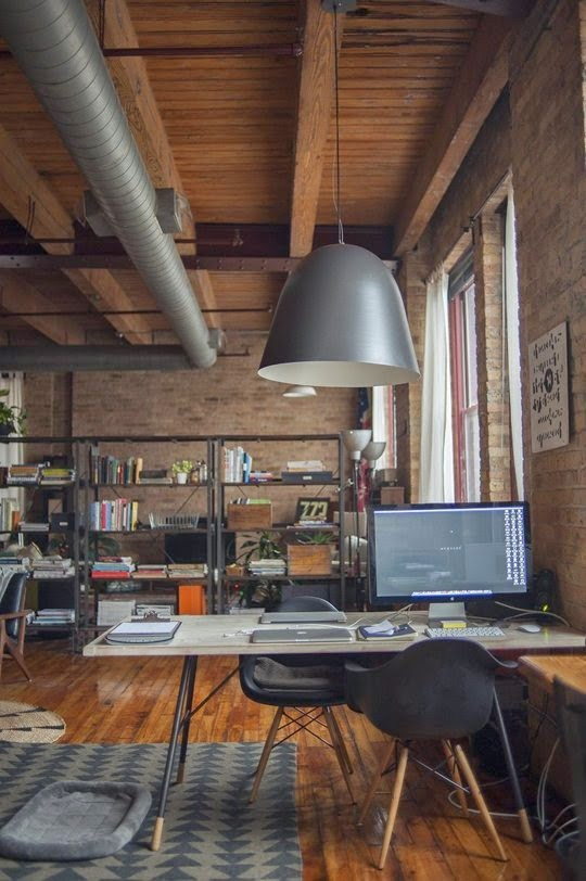 Warm industrial home office daily dream decor for Warm industrial decor