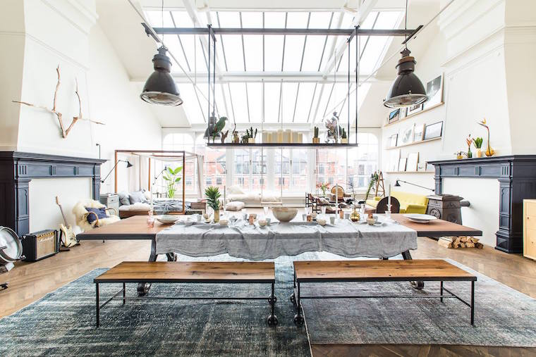 Breathtaking open space loft in amsterdam daily dream decor - Chambre style loft industriel ...