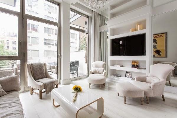 Elegant Apartment white elegant apartment in new york - daily dream decor
