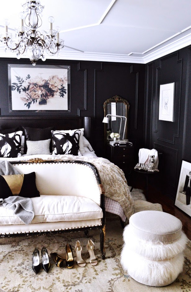 Fabulous Black Walls Master Bedroom Daily Dream Decor