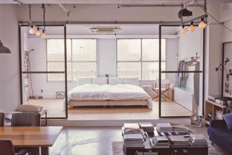 industrial design loft in tokyo daily dream decor. Black Bedroom Furniture Sets. Home Design Ideas