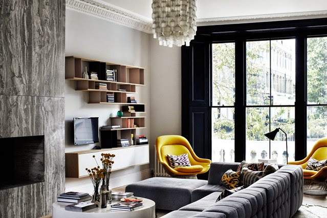 Industrial glamorous living room Daily Dream Decor