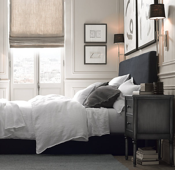 Tips for using roman blinds in your decor scheme daily for Restoration hardware window shades