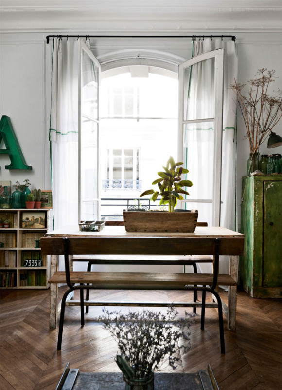 vintage rustic apartment in the middle of paris - daily dream decor