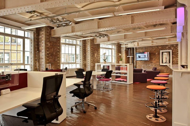 office trend. in recent years office design has moved away from formal conventional spaces to more playful recreational working environments with trend d