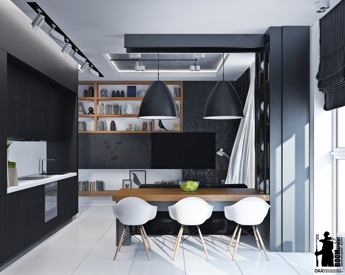 black-and-white-small-apartment