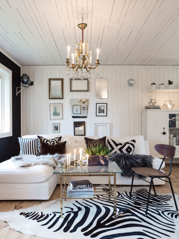 Charming warm home daily dream decor - Decoracion nordica salon ...