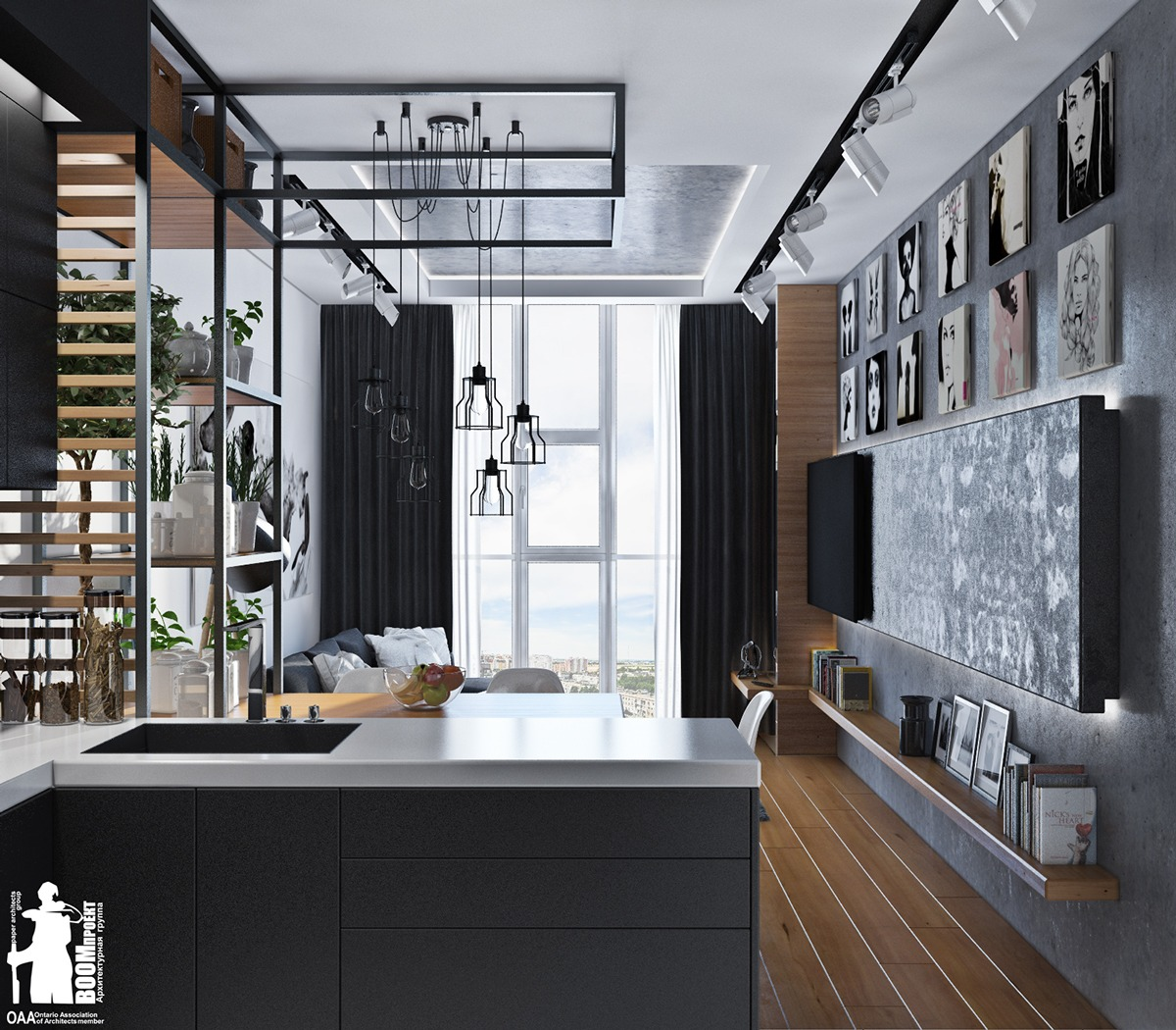 monochromatic-home-with-wood-floors