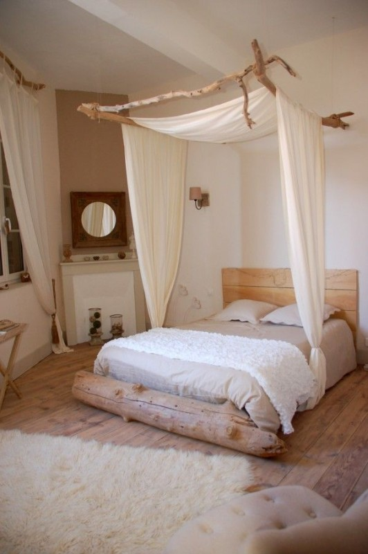 10 dreamy bedrooms that will set a romantic mood daily for Tapisserie tete de lit