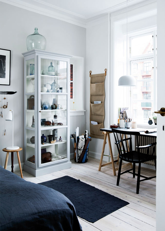 Nordic bedroom & workspace ...