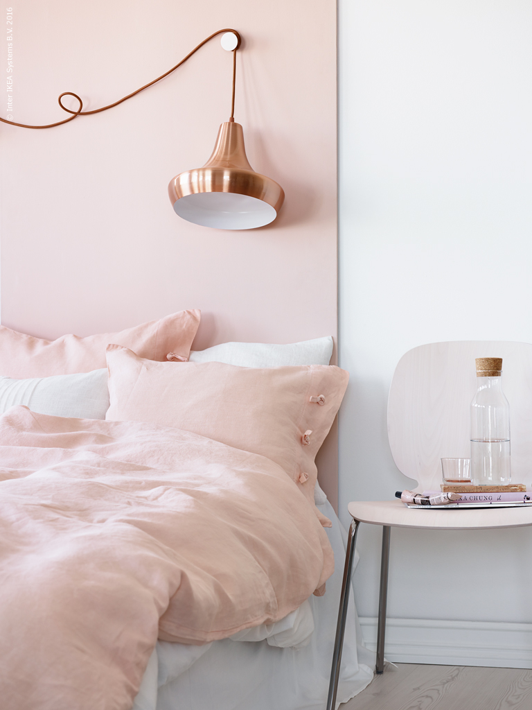 Rose quartz and copper bedroom daily dream decor for Rose decorations for bedroom