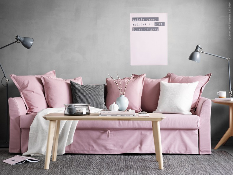 The dreamiest pink ikea couch daily dream decor for Ikea sofa rosa