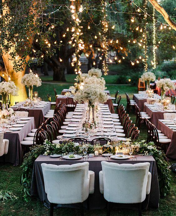 Dreamy Wedding Arrangement With Light