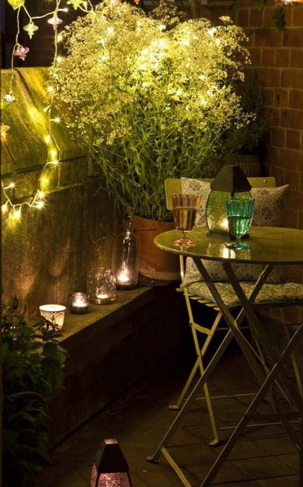 balcony lights for a small space