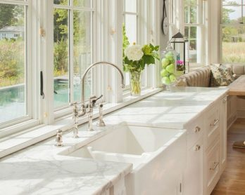 marble kitchen desk