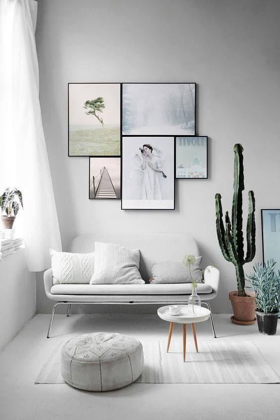 Minimal White Sofa Glam Decor