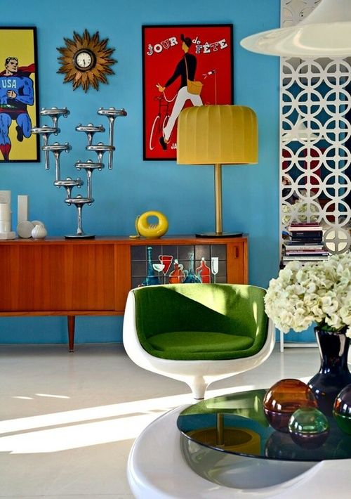 How to give your home a retro vibe daily dream decor - Colors for modern living room chromatic vitality ...