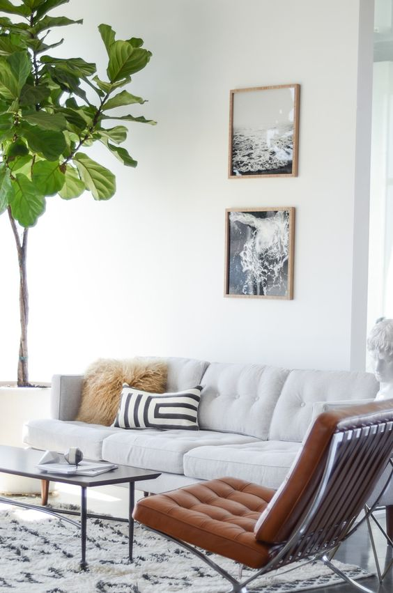 7 dreamy white sofas for a great monday daily dream decor Large living room plants