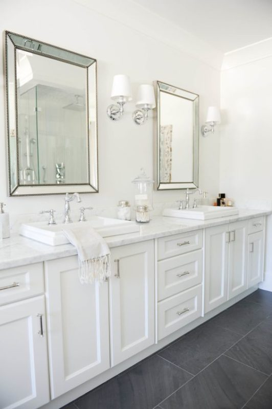 7 all white spaces you will lust for daily dream decor for All white bathroom designs