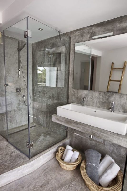 Concrete The New Amp Dreamy Bathroom Material Trend Daily