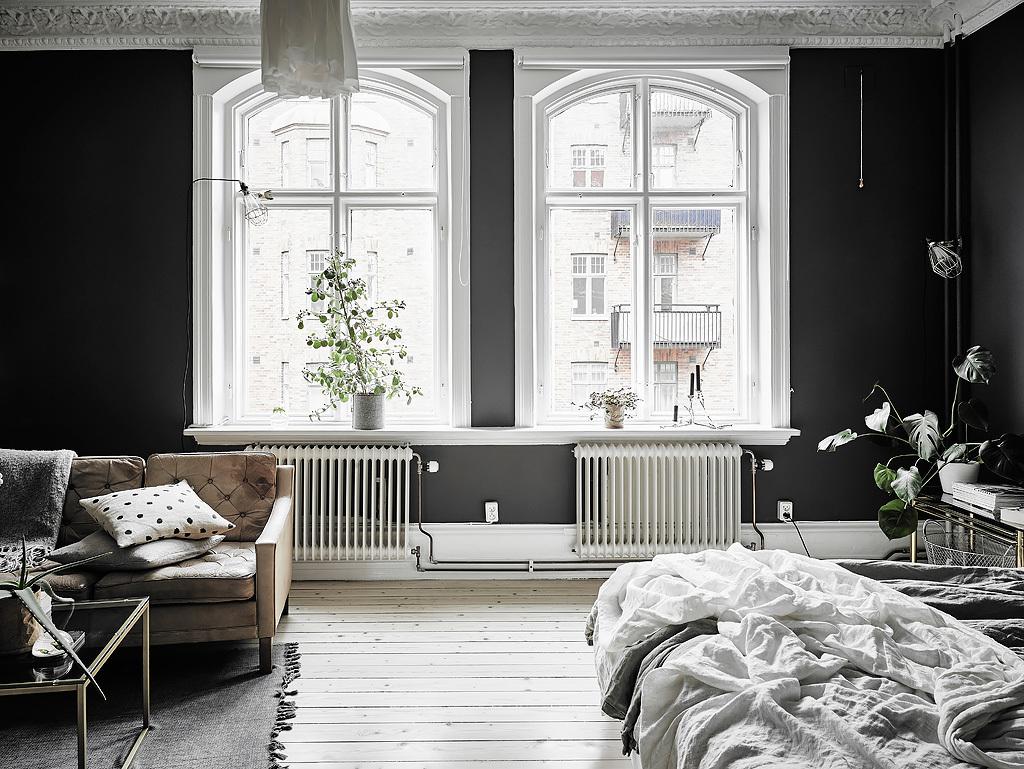 Dreamy Scandi Apartment With Black Walls Daily Dream Decor
