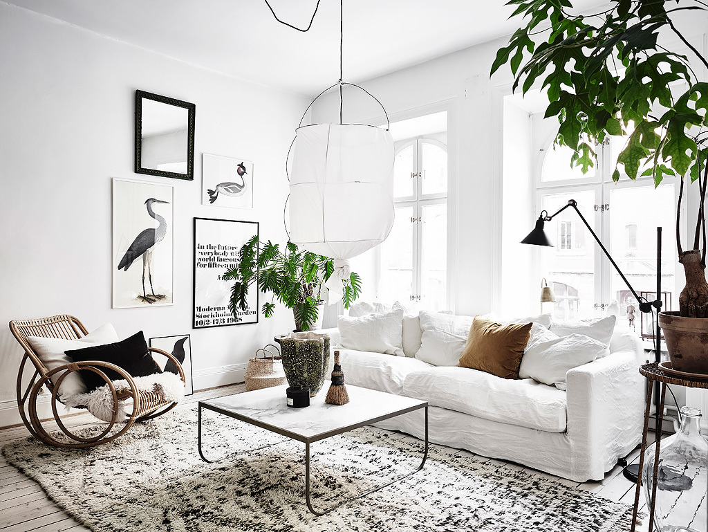 Scandinavian apartment with bohemian vibes - Daily Dream Decor