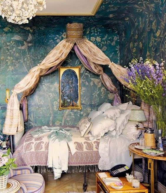 These 8 dreamy bedrooms will make you think they are from for House interior design romantic bedroom