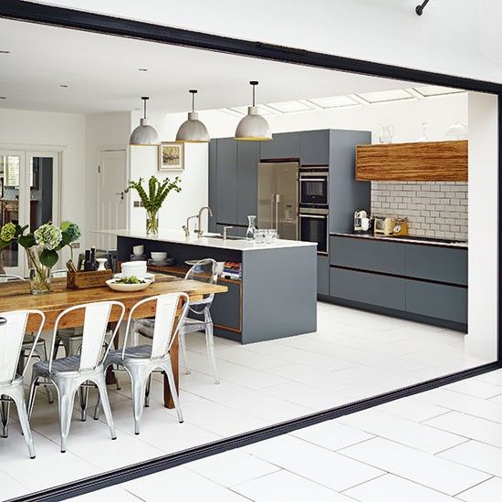8 modern kitchens that will make your home cool relaxing Contemporary open plan kitchen