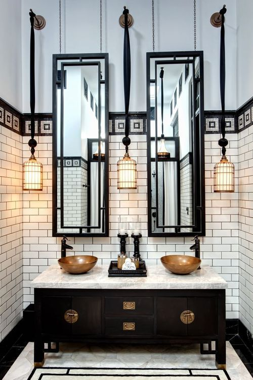3 key design elements for your art deco inspired bathroom for Bathroom ideas art deco