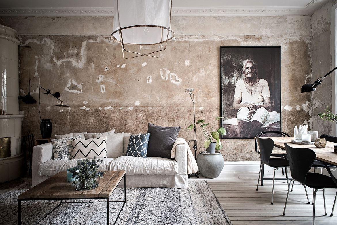 le charme des murs bruts - envie 2 deco - boutique et blog déco