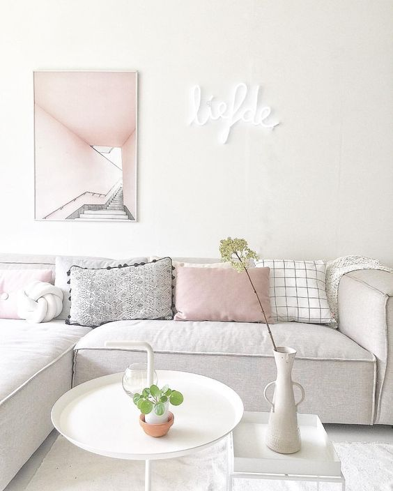 9 Gorgeous white, grey and pink interiors that make you dream
