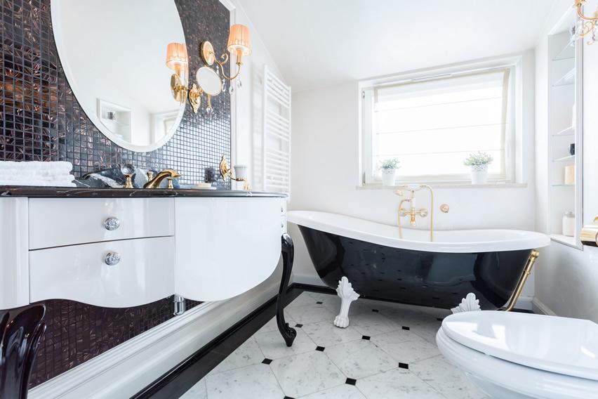art deco bathroom. Modern-art-deco-glam-bathroom Art Deco Bathroom A