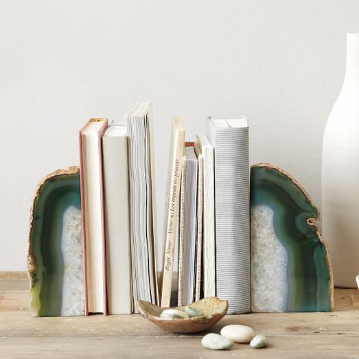 agate-bookends