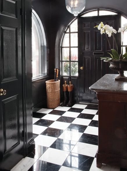 10 Dreamy Rooms With Black White Tiles You Will Instantly Love