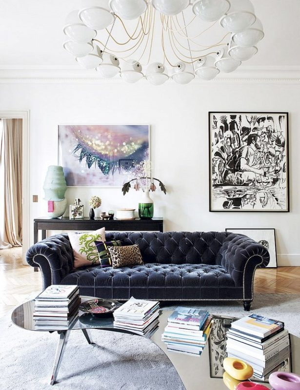 chic luxurious sofa parisian chic