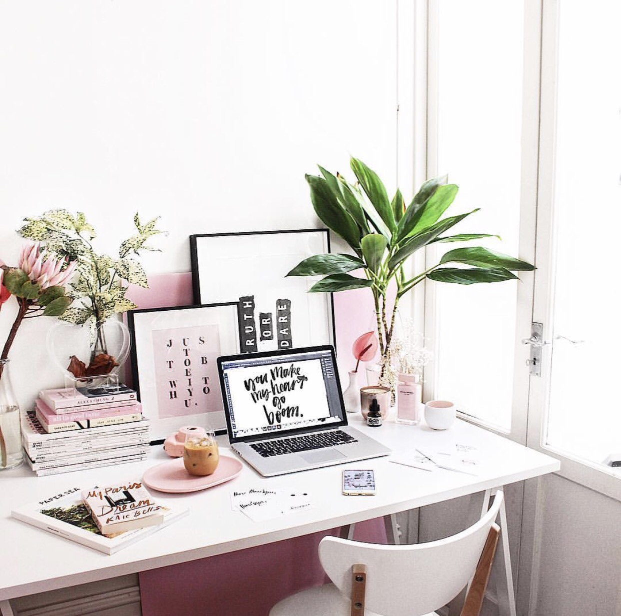 making a home office. Pink Home Office Making A