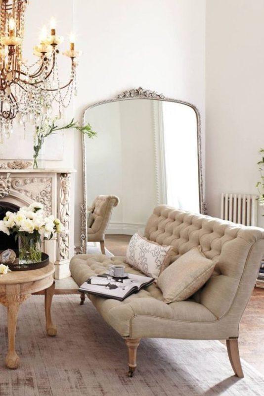 statement mirror parisian chic home