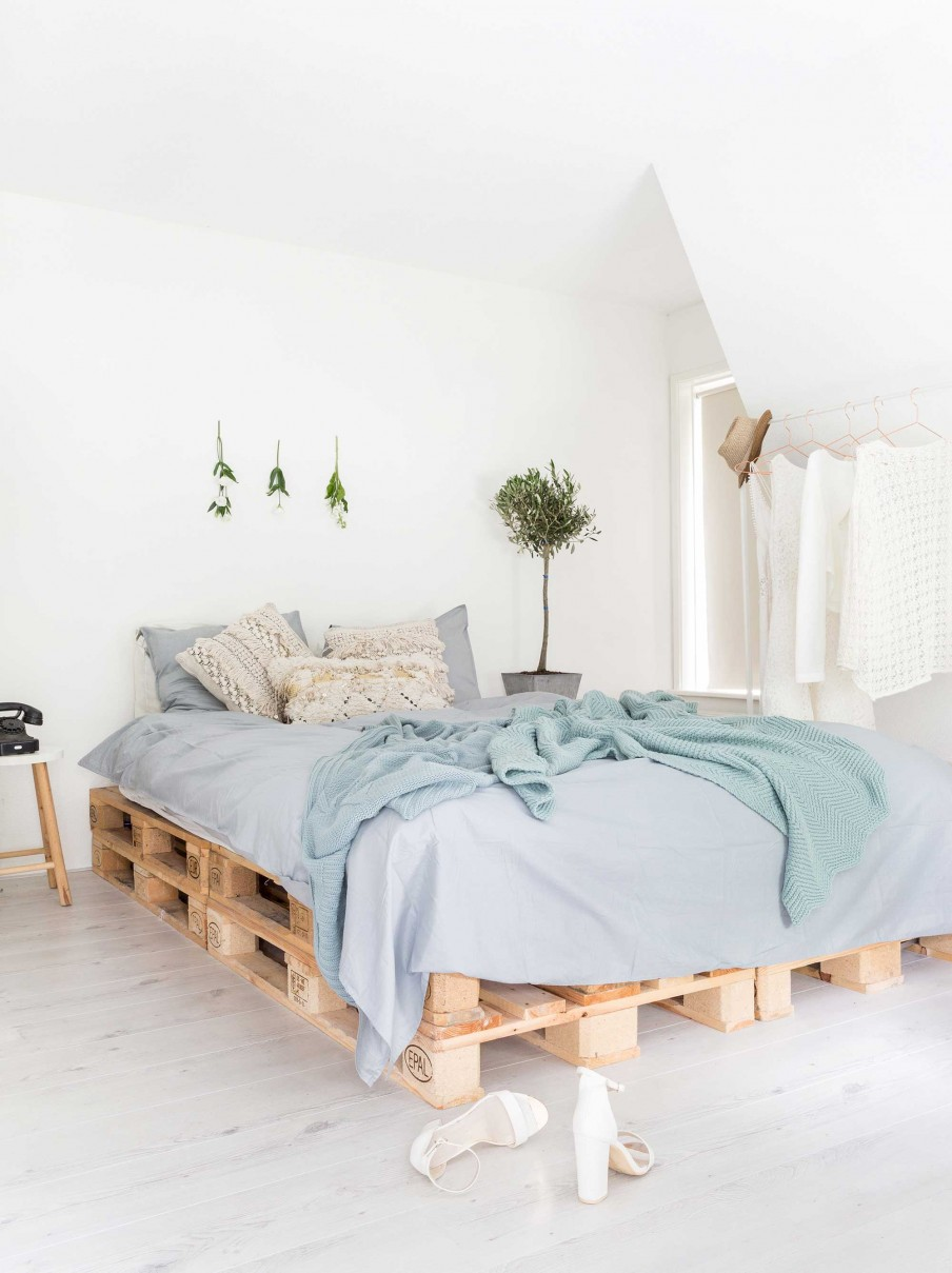 a fresh danish home with a dreamy pallet bed daily dream