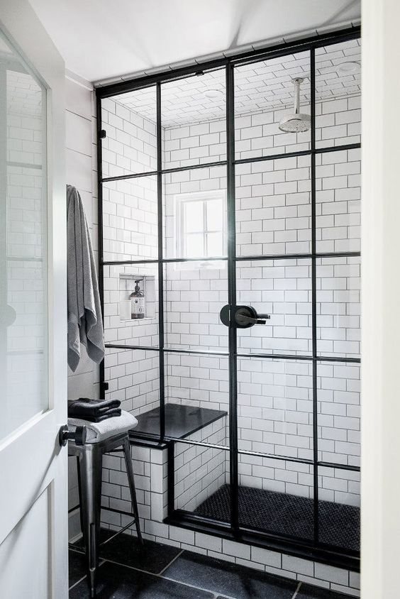 ... Trends You Can Try Right Now When It Comes To Shower Cabins. Iu0027m Simply  In Love With It! Also, For A Clear And Relaxing Look Pair It With White  Tiles.