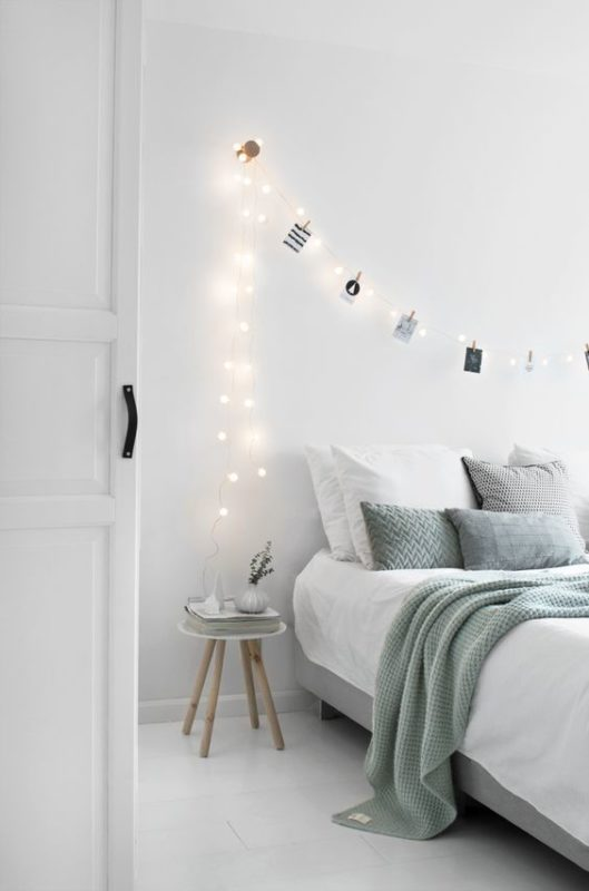 Transform A Minimal Bedroom Into A Wonderland Space Using Some Dreamy  Lights At The End Of Your Bed. Itu0027s A Great Idea, Especially For An Attic  Apartment, ...