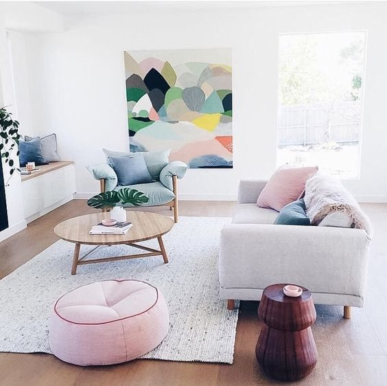 Rich Blue And Pink Interior Decorating Paint Colors And Modern Color Trends: 9 Splendid Pastel Interiors For A Dreamy Spring