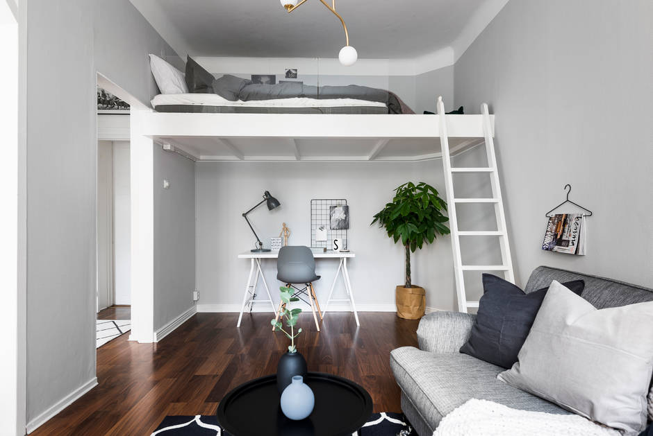 A Neutral Color Scheme With Soft Color Accents Was Picked Especially To  Make The Space Look Bigger. Iu0027m Absolutely Lovinu0027 The Wood Beams Also, ...