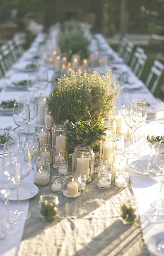 This greenery wedding table setting has a country chic look and itu0027s filled with plants that grow on fields and that are cute and rustic. & 7 Gorgeous table settings that make Greenery the perfect wedding ...