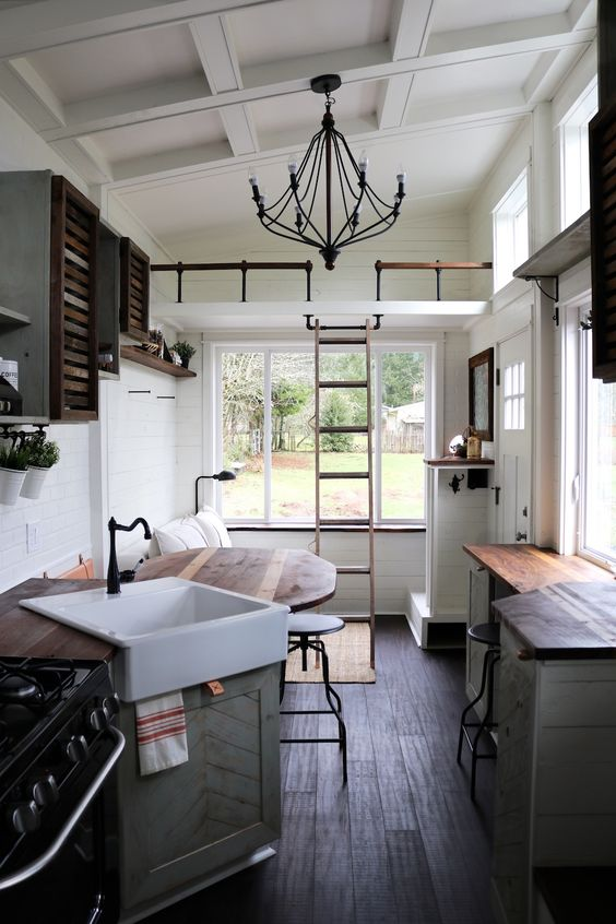 Pick only the kitchen essentials  A space that looks less cluttered will  always seem bigger, especially a white one. So stick only to the kitchen  essential ...