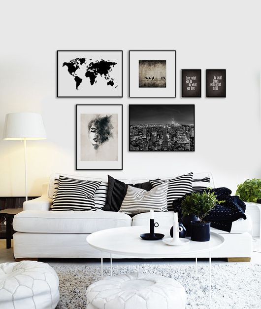 Cancer sign home deco the dreamy essentials daily for Black and white mural prints