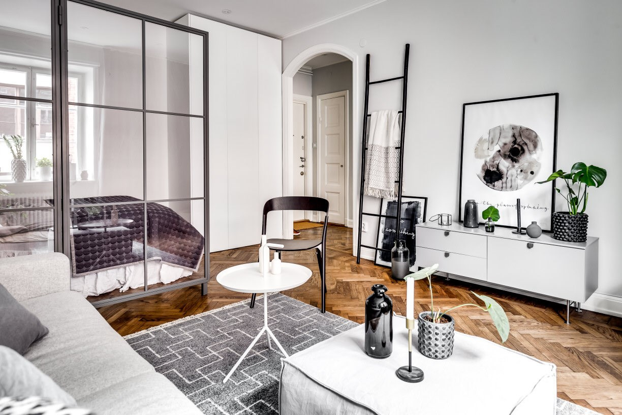 A Dreamy Studio Apartment With A Glass Wall Daily Dream Decor